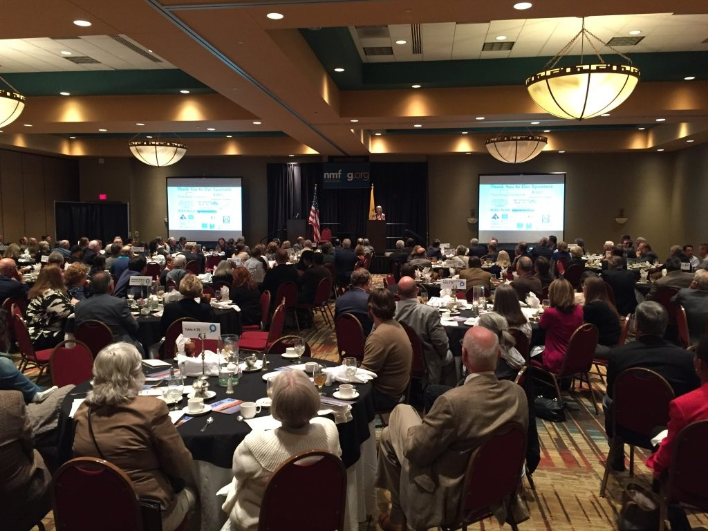 Ann Cooper delivers her keynote address to a packed ballroom at the Embassy Suites for the Dixon Lunch.